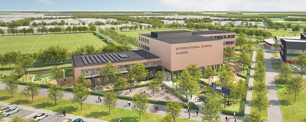 Bovenaanzicht International School Almere