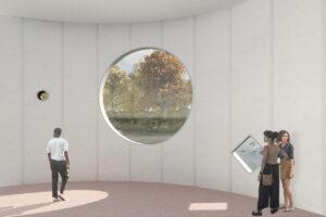 Conceptbeeld kunstmuseum Almere binnenruimte
