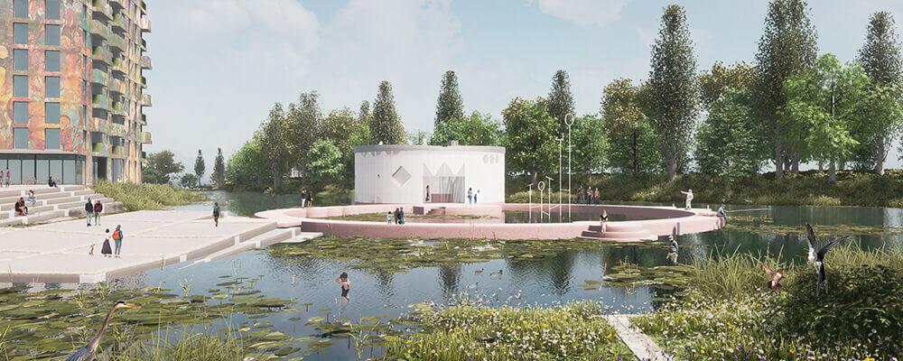 Conceptbeeld kunstmuseum Almere