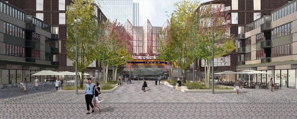 Vooraanzicht nieuwe ontwerp Stationsplein