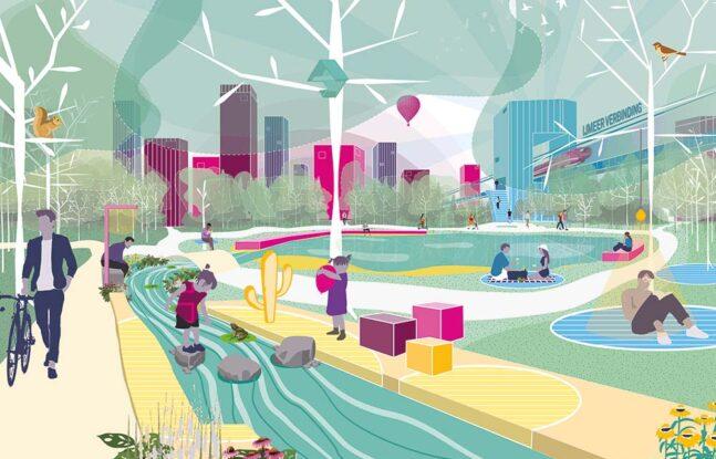 Illustratie Centraal metropolitane parken